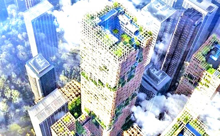 Fából felhőkarcolót? Igen, már ezt is lehet!