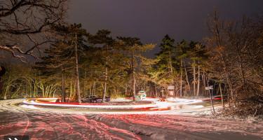 A havas Mecsek éjszaka