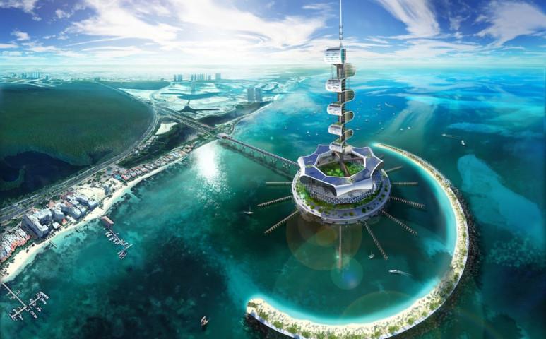 Luxusszálloda, mely önfenetartó, és a tengert is tisztítja