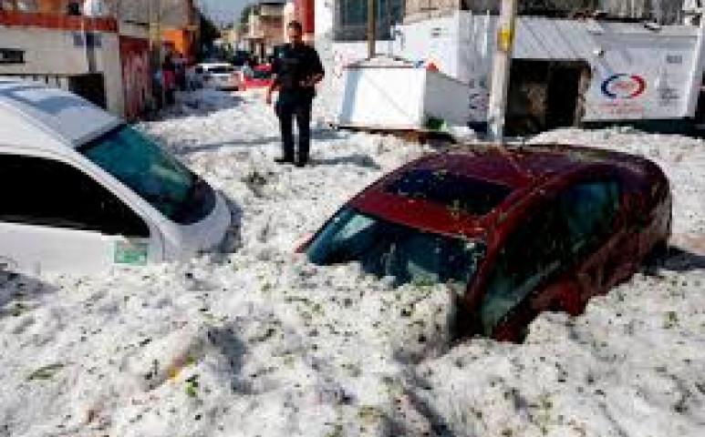 Másfél méter jég Mexikóban