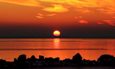 Szilveszteri naplemente