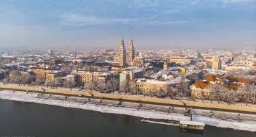 Hó alatt Szeged városa