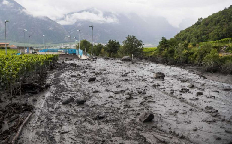 Földcsuszamlások Svájcban is