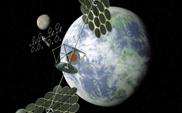 Az űrbe telepítene napelemparkot Kína