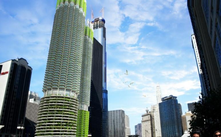 Bioreaktorrá alakítana két tornyot egy tervezőcég Chicagoban