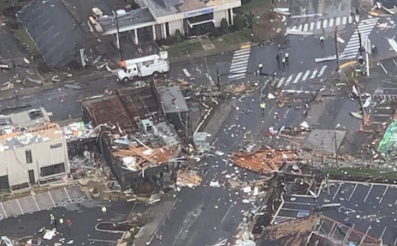 Erős tornádók romboltak Nashville-ben, EF3 és EF4