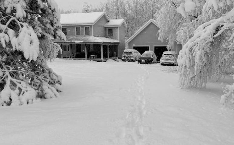 Durva havazással búcsúzik a tavaszi tél Maine-ben