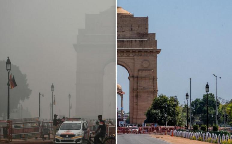 Évtizedek óta nem volt ilyen tiszta a levegő Észak-Indiában