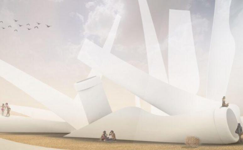 Művészi megoldást talált egy cég a szélturbinák használhatatlan lapátjaira