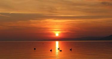 Szeptemberi naplemente a Balatonon