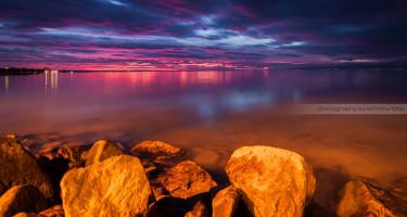 Fagyos fények a Balatonon