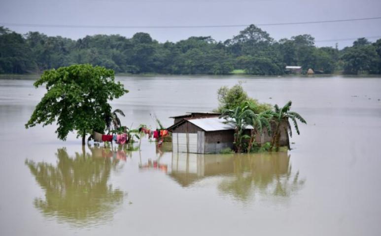 Assam újra víz alatt