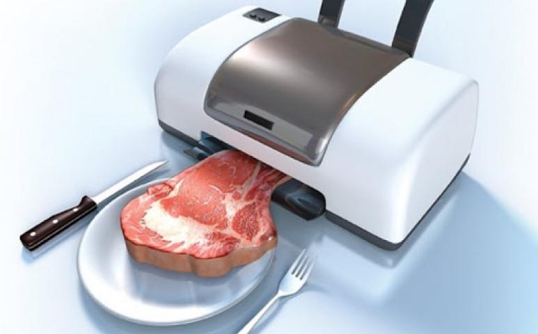 íme a tökéletesen ízes, és élethű nyomtatott steak
