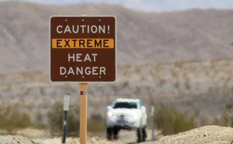 Sorvasztó, 54,4°C-os meleg az USA egyik legforróbb pontján