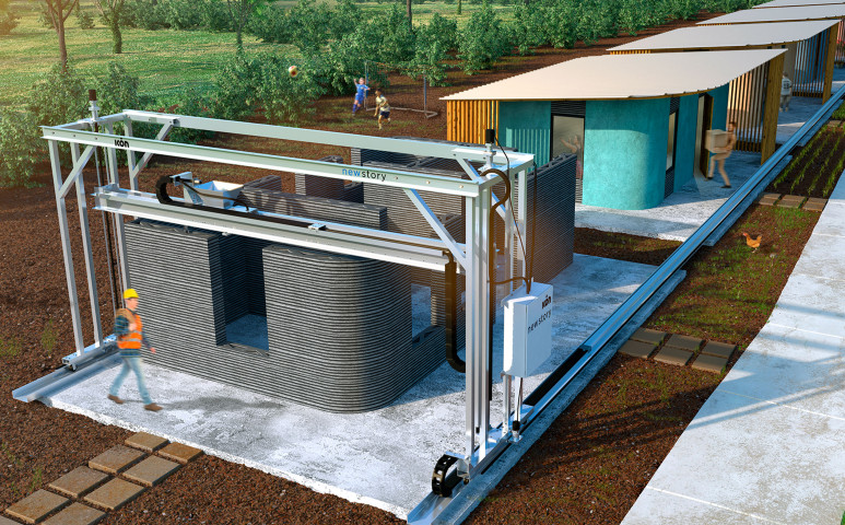 Földből is lehet házat nyomtatni, így még olcsóbb és környezetbarát is!