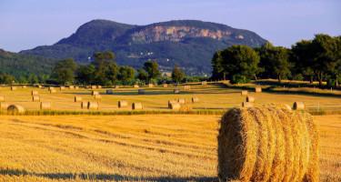 Szalmabálák a Balaton-felvidéken