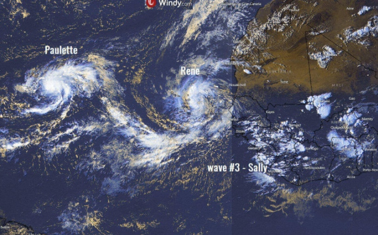 3 vihart is szül egyszerre az Antlanti-óceán