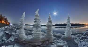 Jégtornyok a Dunán