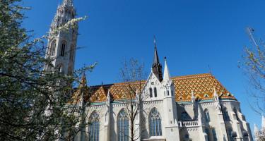 A Mátyás-templom márciusban