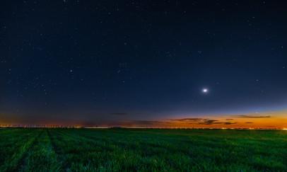 Az áprilisi égbolt éjszaka
