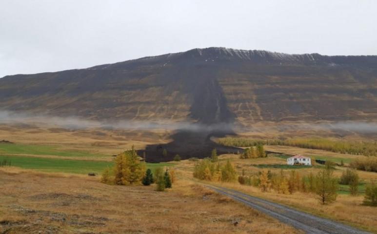 100 méterre állt meg a földcsuszamlás a házaktól Izlandon