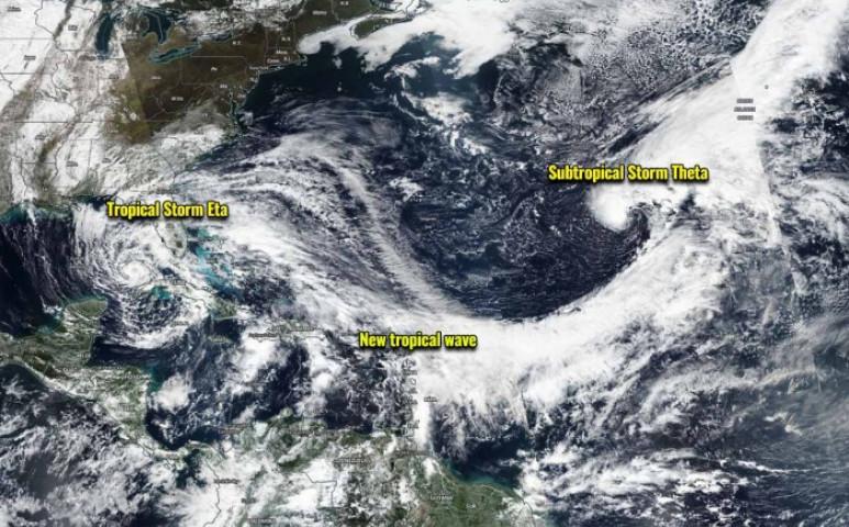 És igen, érkezik a következő, immáron 29. vihar is a hurrikánszezonban