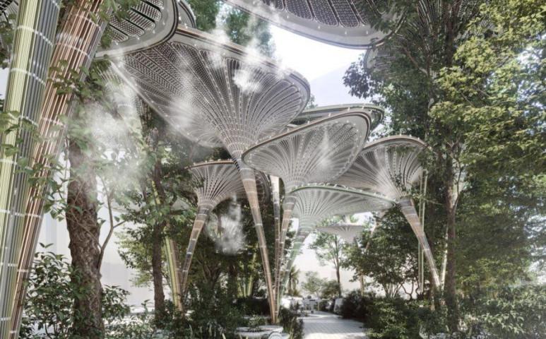 Mutatós mesterséges pálmákkal szeretnék hűteni Abu Dhabit