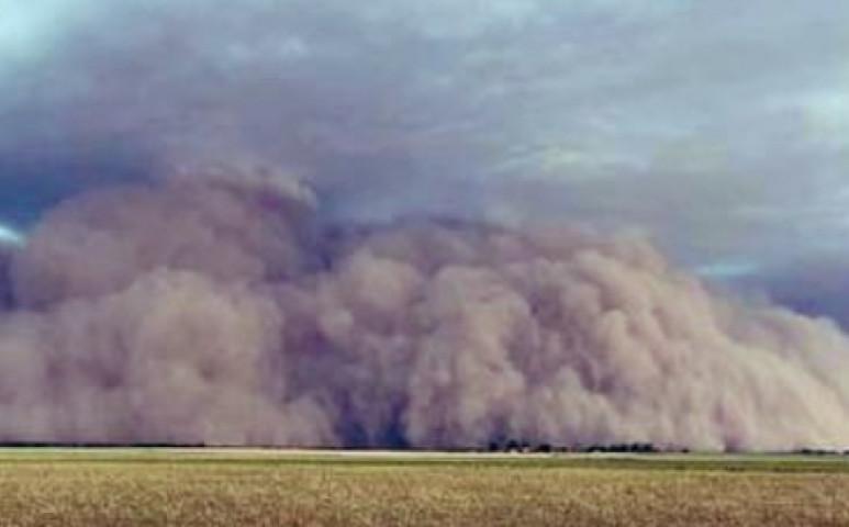 Durva homokvihar Argentínában