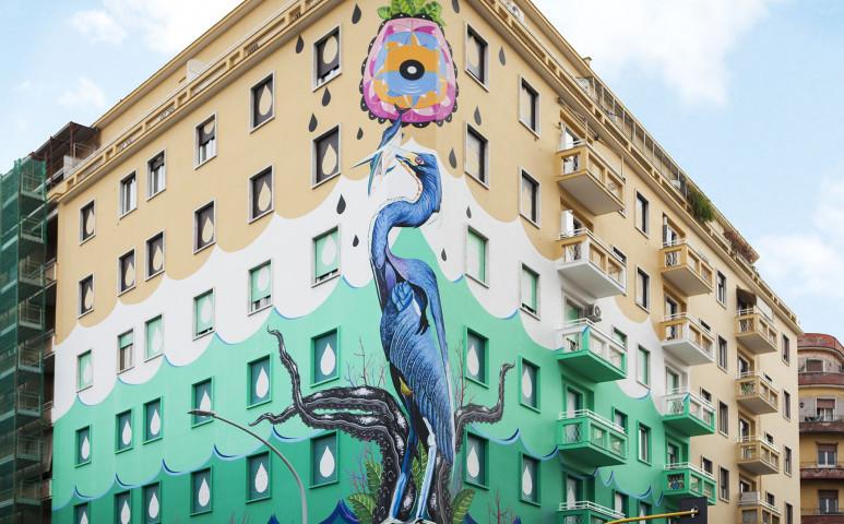 Légtisztító graffiti Rómában