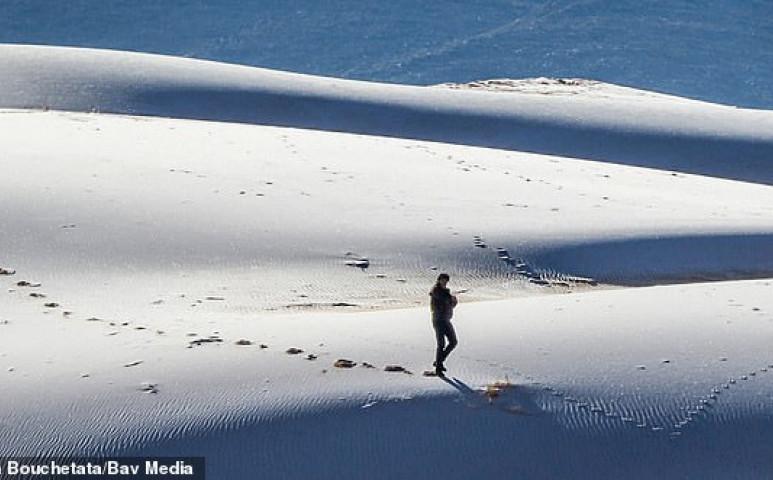 Hó és jég a Szahara kapujában - havazott a sivatagban