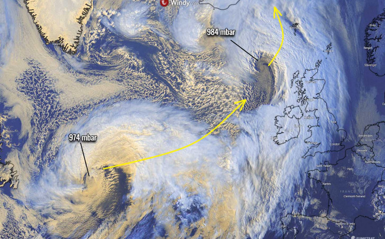 Két viharrendszer is megtámadja Európát - havat és esőt is hoznak