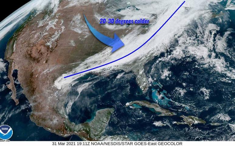 Hirtelen másfél hónapot lép vissza az időjárás az USA-ban - faggyal érkezik az április