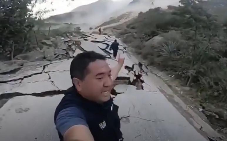 Peruban egy gigantikus földcsuszamlás van kibontakozóban