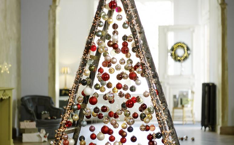 Olcsó, egyszerű, környezetbarát karácsonyfák DIY