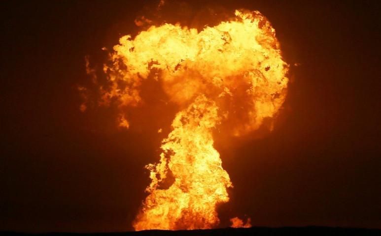 600 méteres lángoszlop emelkedett ki a Kaszpi-tóból