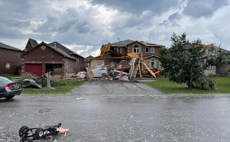 Kanadában EF2-es tornádó pusztított