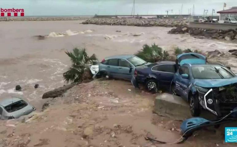 Fél óra alatt 77 mm csapadék Katalóniában
