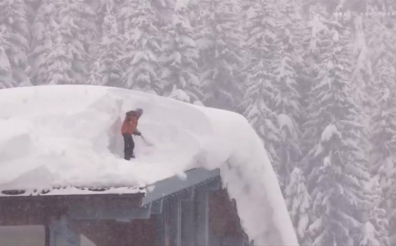 Nem csak Európában, az USA-ban is komoly havazás van