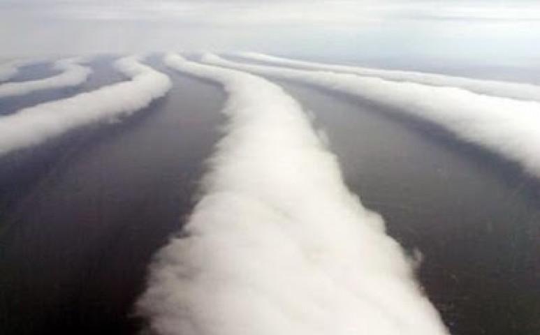 Tekercs-felhő Amherst felett