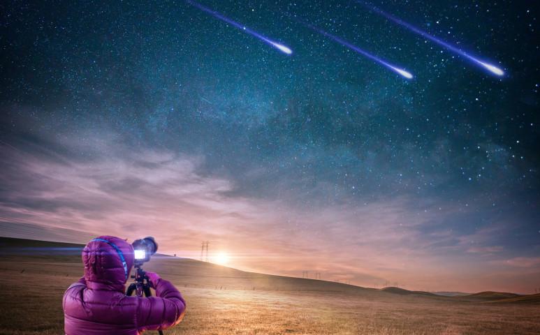 A meteorokat nem csak mi kémleljük az égen
